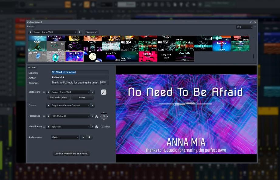 FL Studio 20.7 Video Wizard Visualizer