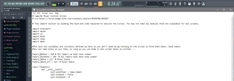 FL Studio MIDI Scripts
