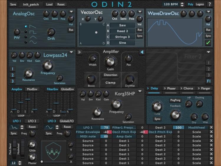 ODIN 2 Free Software Synthesizer VST AU Plugin